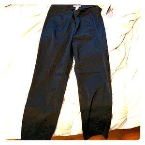 Kenar Skinny black patterned ankle pants NWT